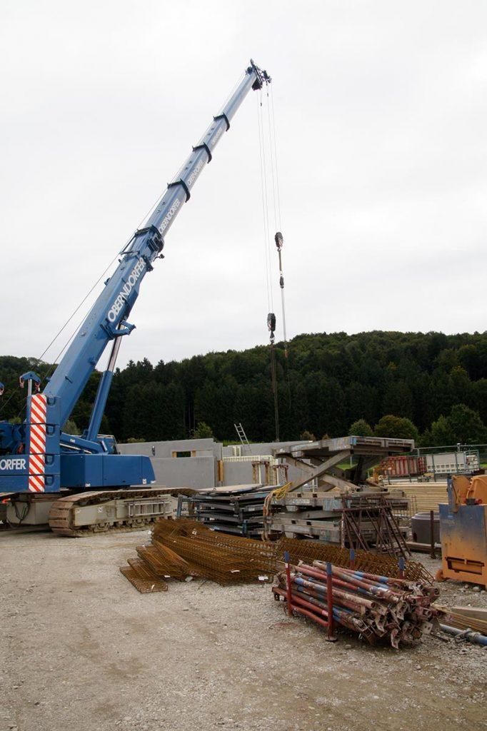 Baustelle des neuen Firmensitzes Kellererbau Anthering