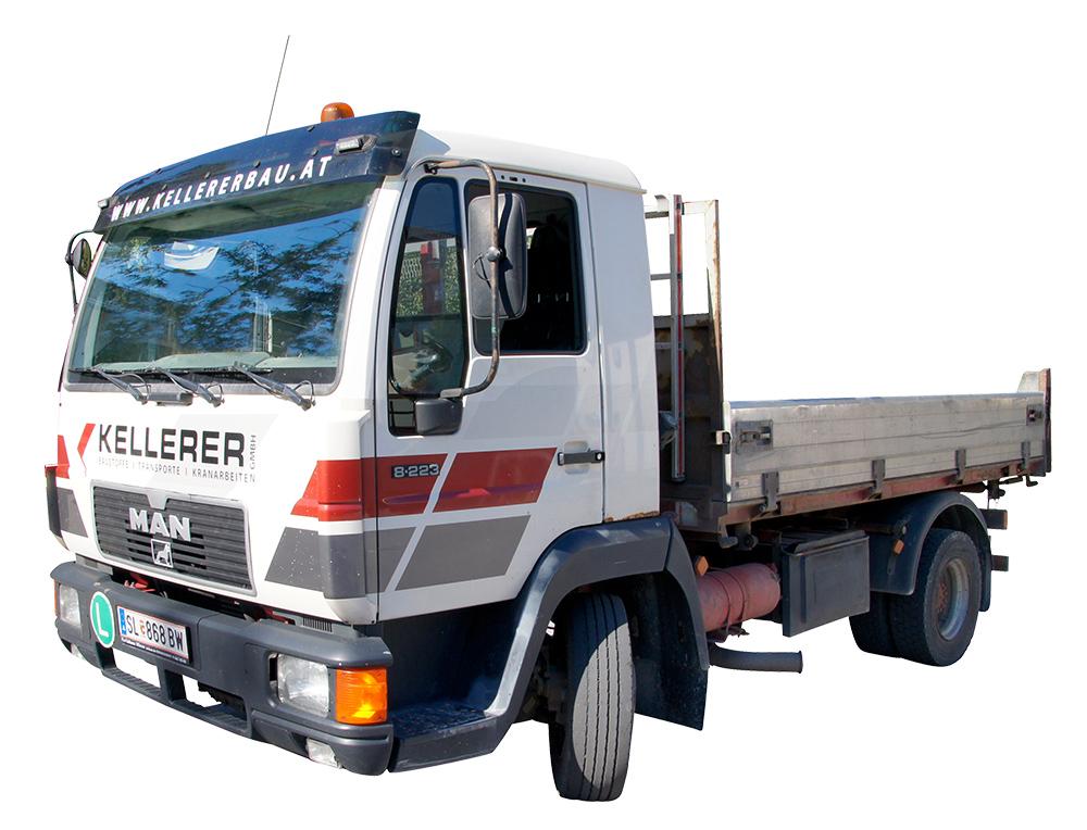 Klein LKW Transporte Kellererbau