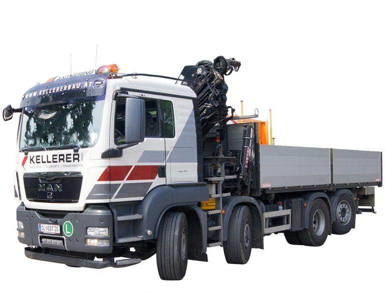 4 Achser LKW mit Mittelkran Kellerer Anthering Salzburg