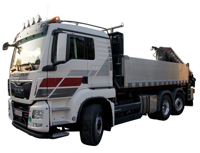 LKW Kellerer Anthering Salzburg Transporte Baustofflieferungen Kranarbeiten