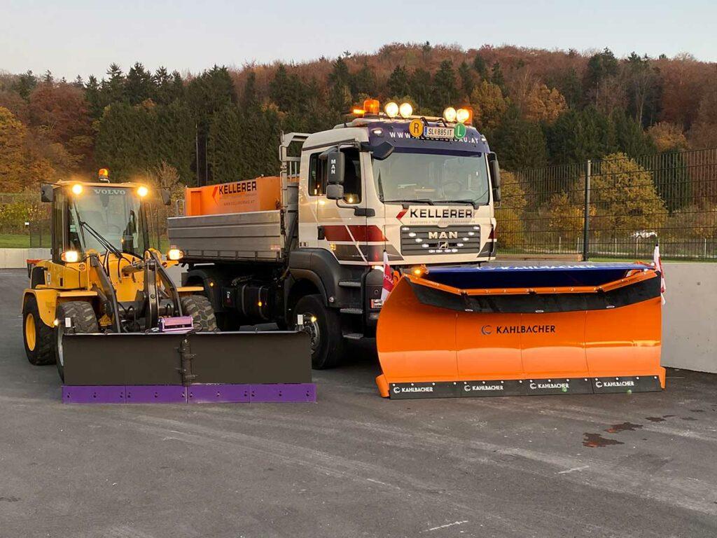 Volvo L30G der neue Schneepflug von Kellererbau in Anthering bei Salzburg