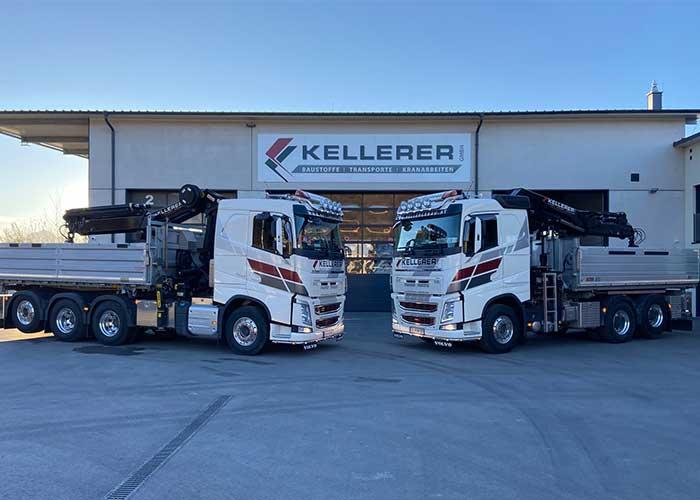 Neue LKW Fahrzeuge von Kellerer GmbH in Anthering bei Salzburg