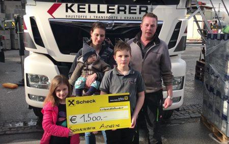 Spende von 1.500 Euro Grill Pool Challenge 2018 Kellerer